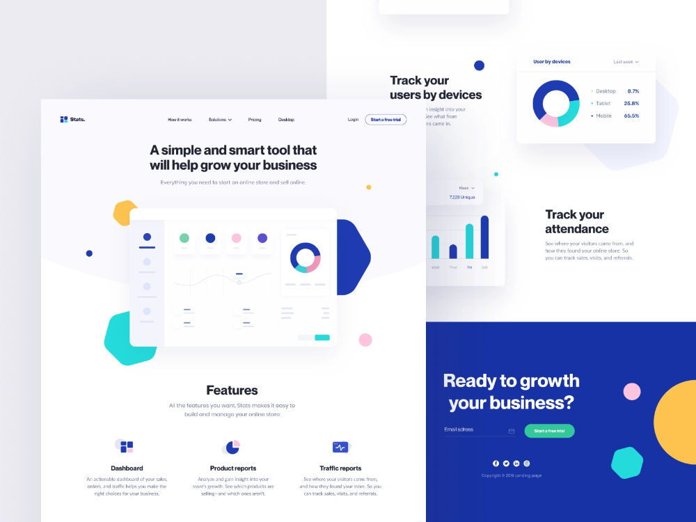 Stats Landing Page In 2020 Landing Page Best Landing Pages Landing Page Design