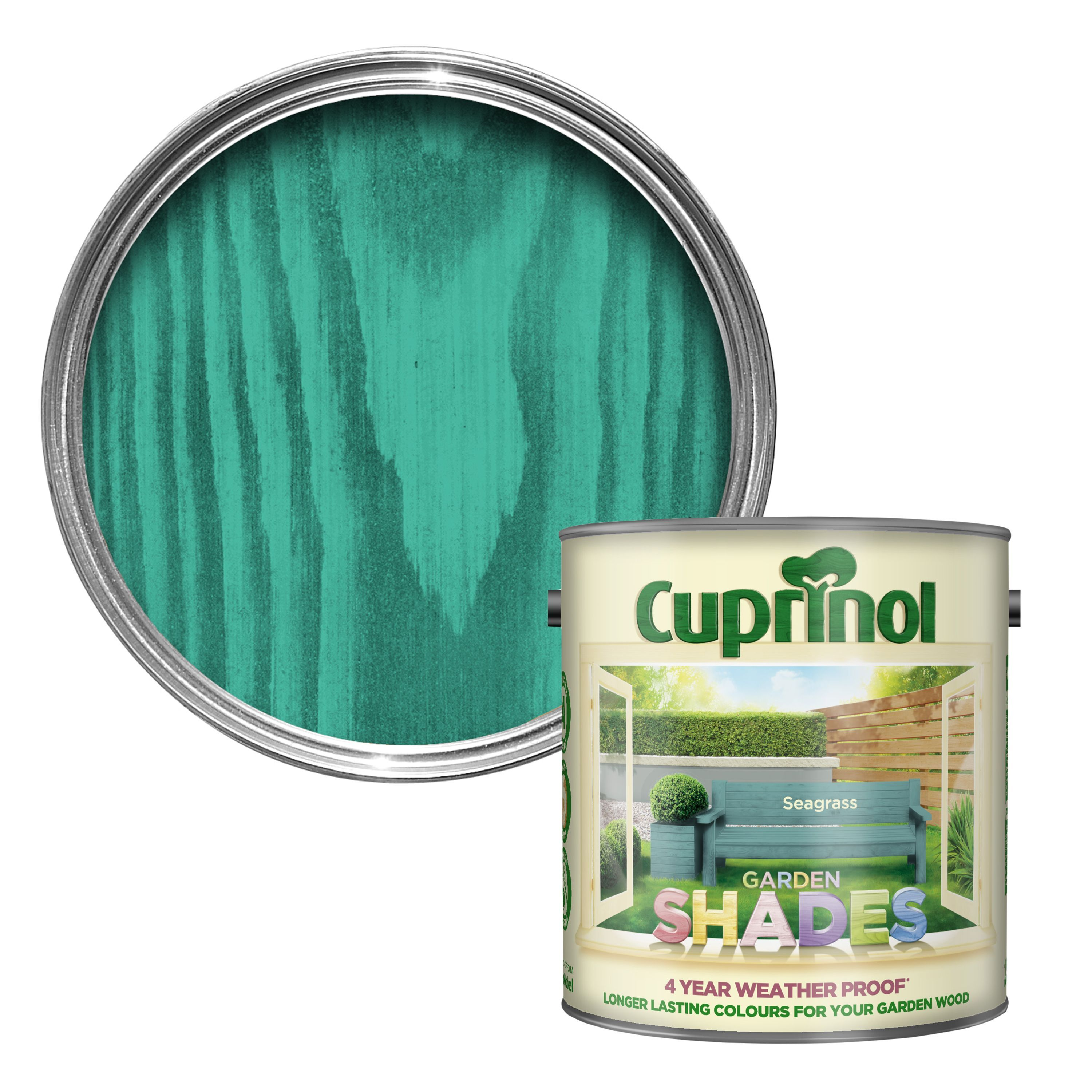 Cuprinol Garden Shades Seagrass Matt Wood Paint 25L - Departments