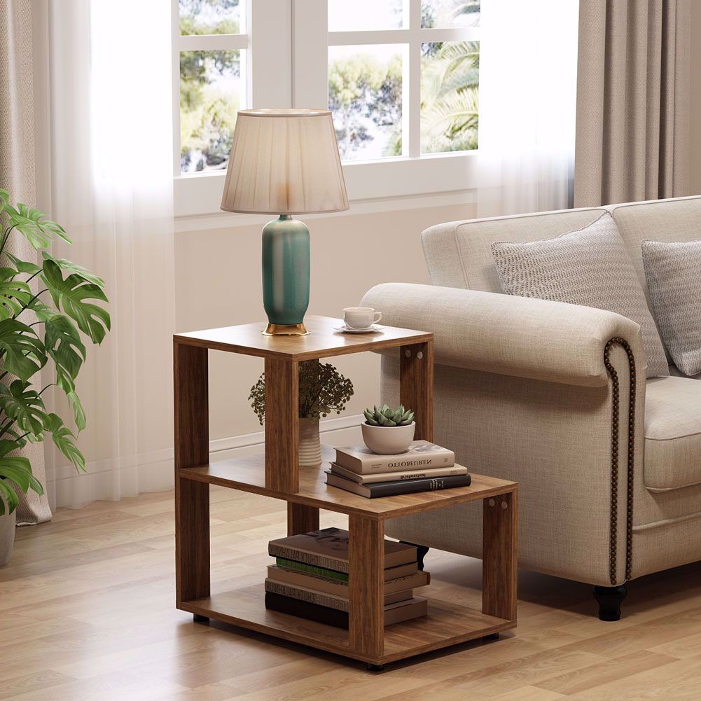 The Convenient Size Designed For Corners And Small Spaces To Dressing Up Your Living Room And Displaying Your Favorite Storage Shelves Table Rustic End Tables Chair side tables with storage