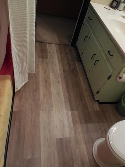 TrafficMASTER Allure 6 in. x 36 in. Khaki Oak Luxury Vinyl Plank ...
