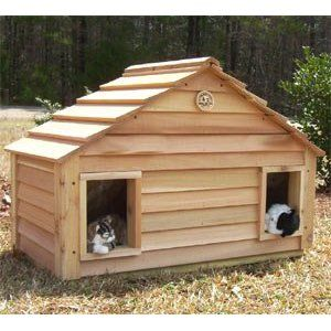 Small Duplex Insulated And Heated Outside Cat House The Small Duplex Outside Cat House Is Large Eno Outside Cat House Insulated Cat House Outdoor Cat House