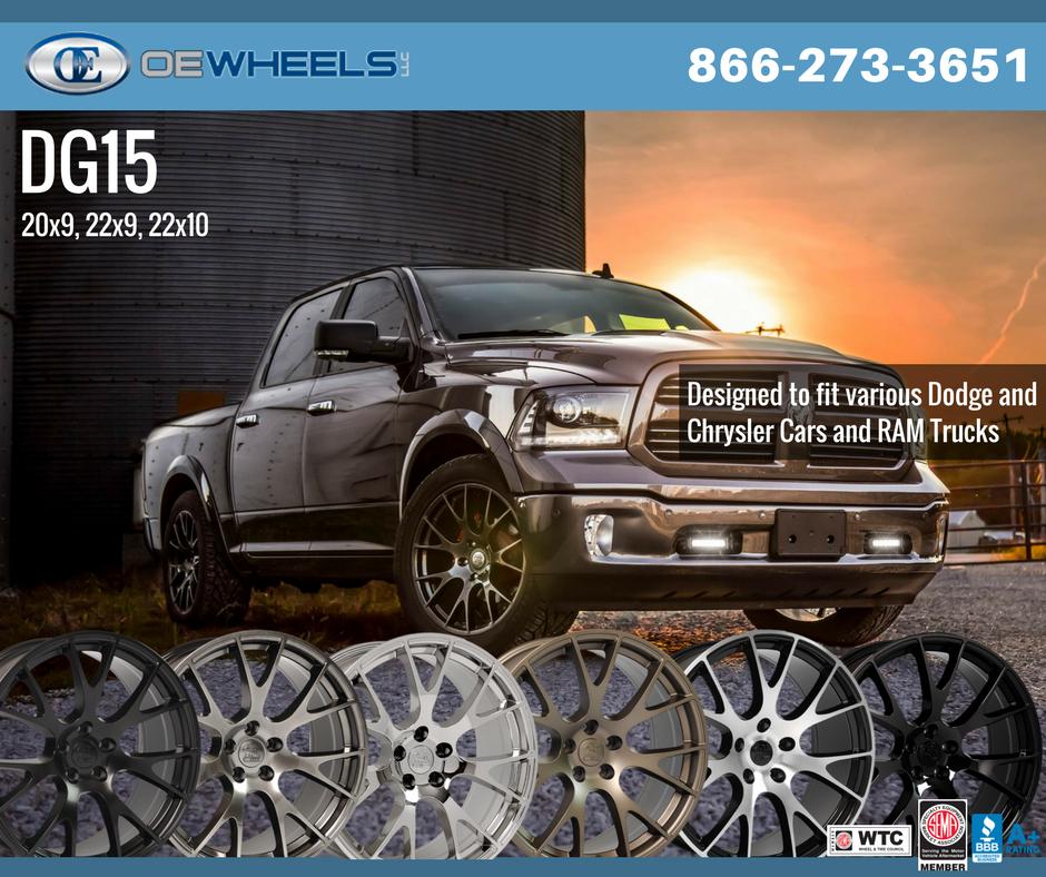hellcat style wheels to fit dodge ram oewheels dg15 rh pinterest com