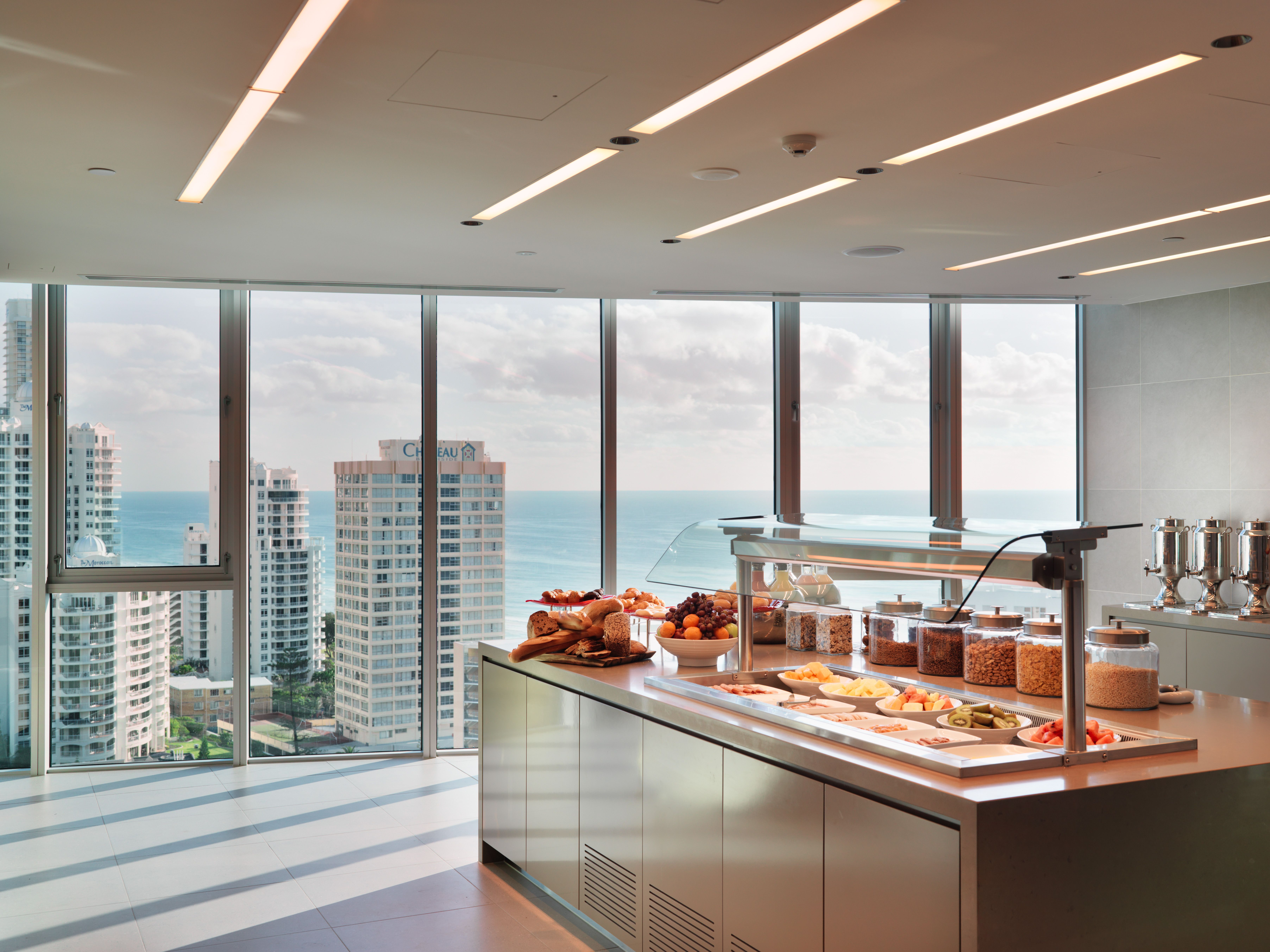 Breakfast In The Executive Lounge At The Hilton Surfers Paradise Hotel Residences Paradise Hotel Surfers Paradise Hotel