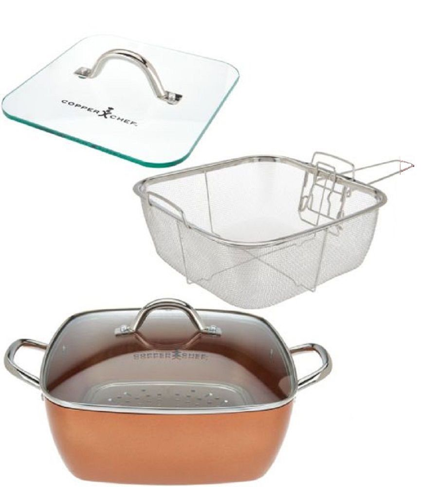 Copper Chef 4 Piece Xl 11 Inch Square Casserole Pan Set Stainless Steel Cookware Copperchef Copper Chef Pan Set Stainless Steel Cookware