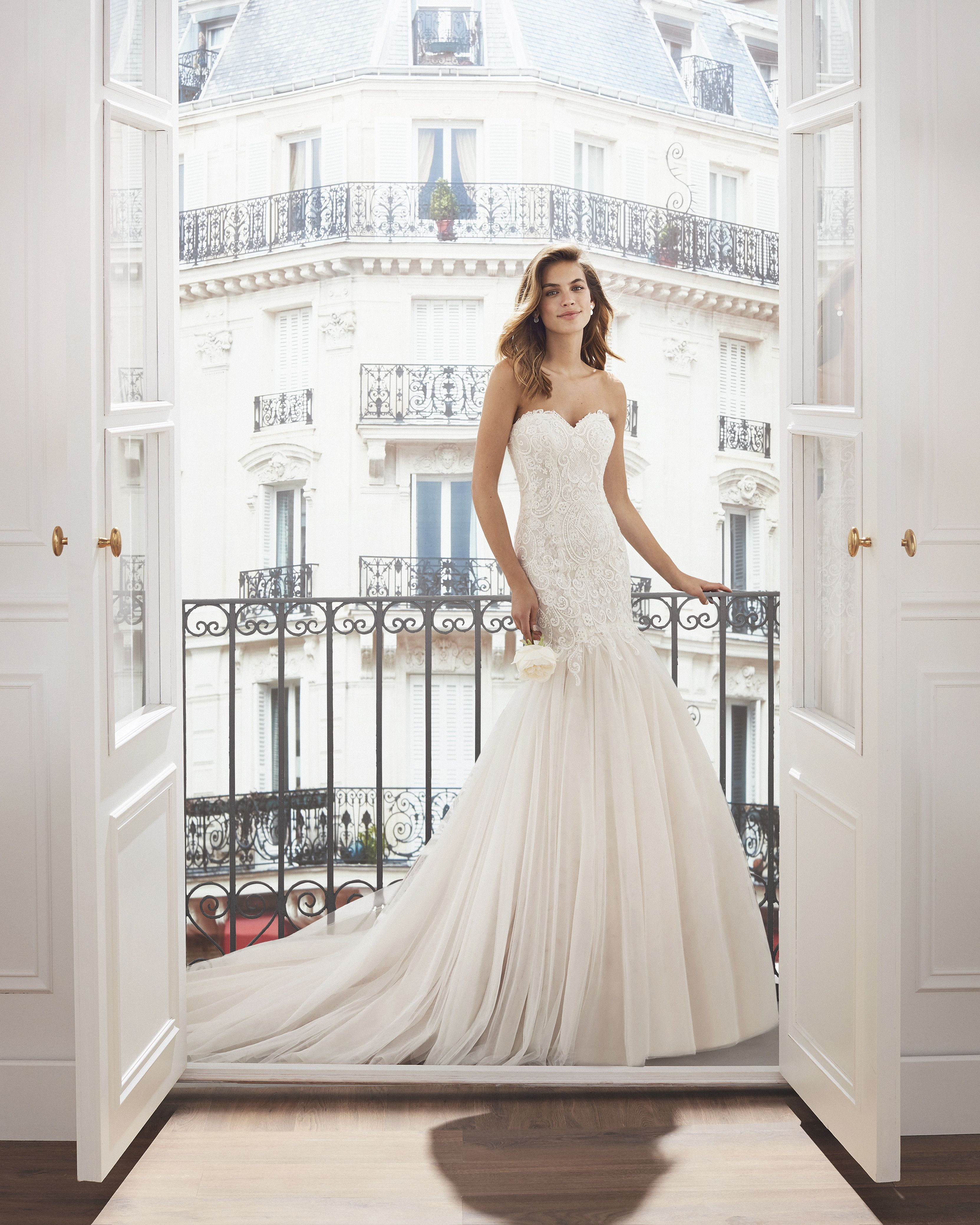 Sweetheart Neckline Lace Mermaid Wedding Dresses New 2019: Lace And Tulle Mermaid-style Wedding Dress. Sweetheart