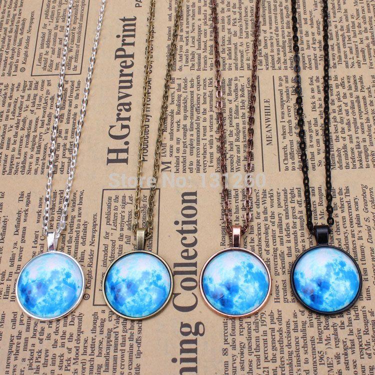 1pc mint blue moon pendant necklace full moon necklace lunar pendant 1pc mint blue moon pendant necklace full moon necklace lunar pendant space pendant glass dome pendant aloadofball Images