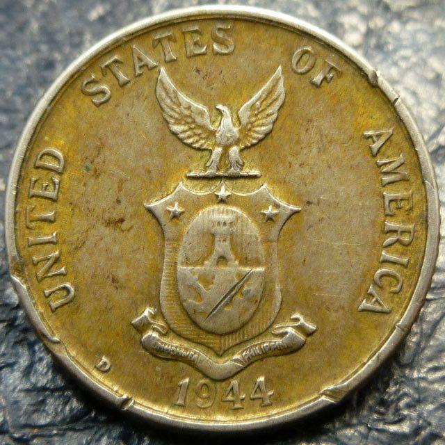 Rare 1944 20 Centavos Silver Coin Co 1412 Rare Beautiful