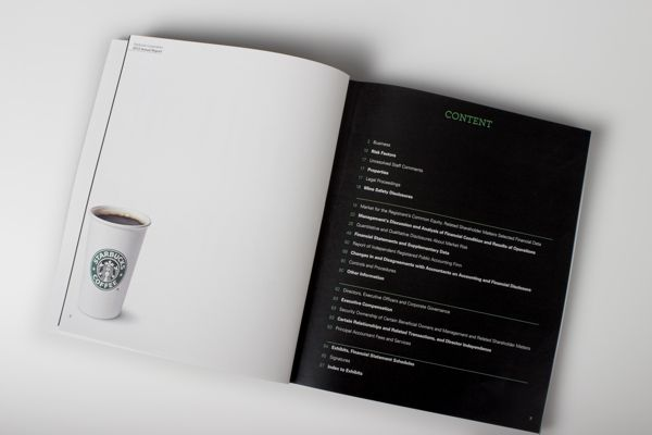 Starbucks Annual Report Design on Behance