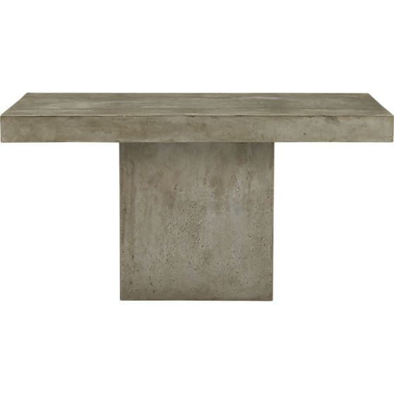 Fuze Grey Dining Table CB Home Pinterest Grey Dining Tables - Cb2 concrete table