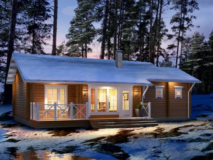 Lumous einfamilienhaus von honka blockhaus gmbh for Holzbungalow modern