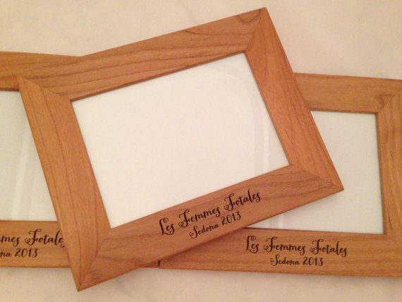 Wedding Gift Engraved Wood Frame Personalized 5x7 Wooden Picture