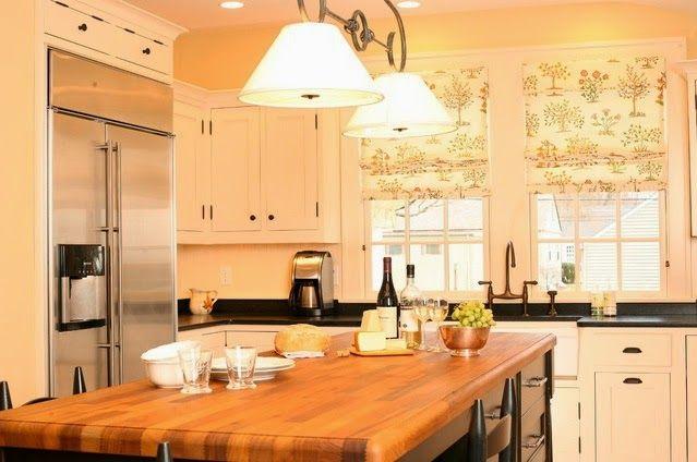 cortinas estampadas cocinas modernas