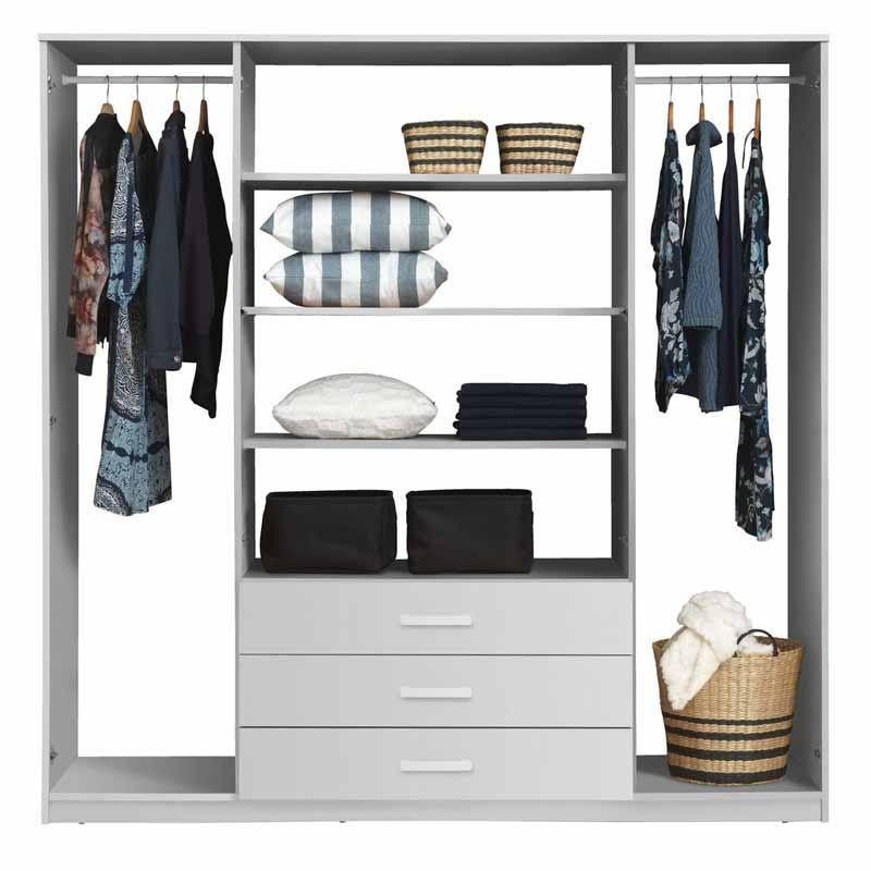 Vinderup In 2020 White Wardrobe Bedroom Closet Design Closet Bedroom