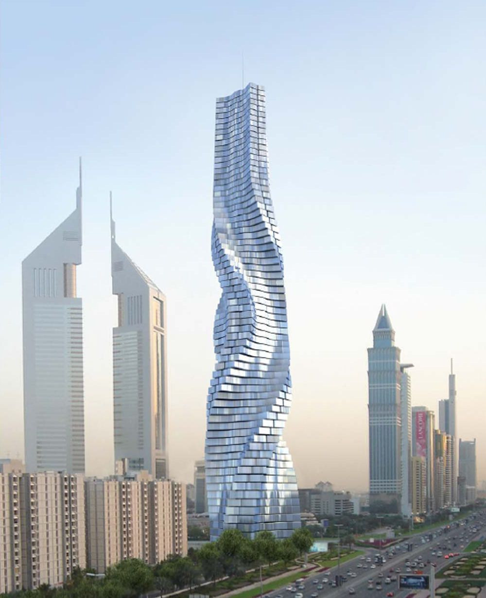 dynamic tower - architecture linked - architect & architectural