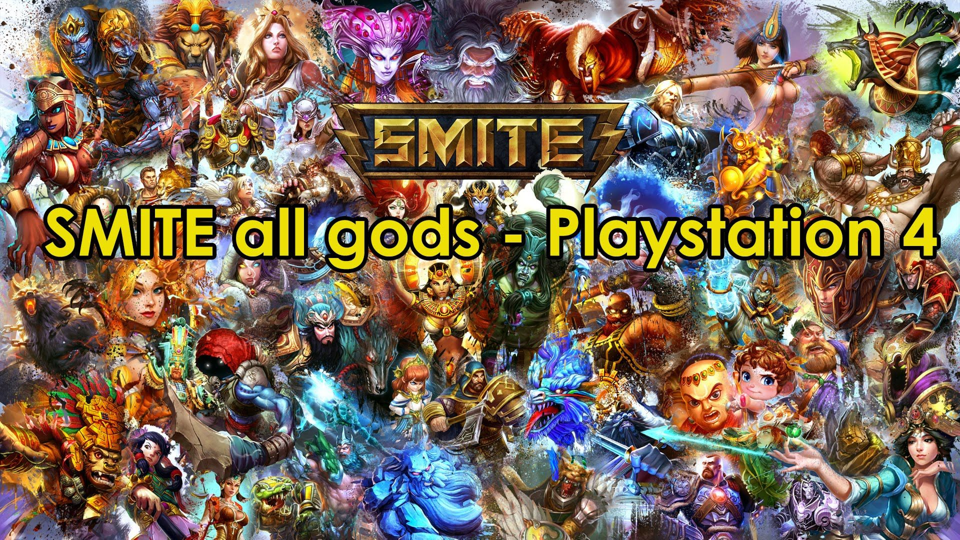 SMITE Playstation 4 all playable characters Playable