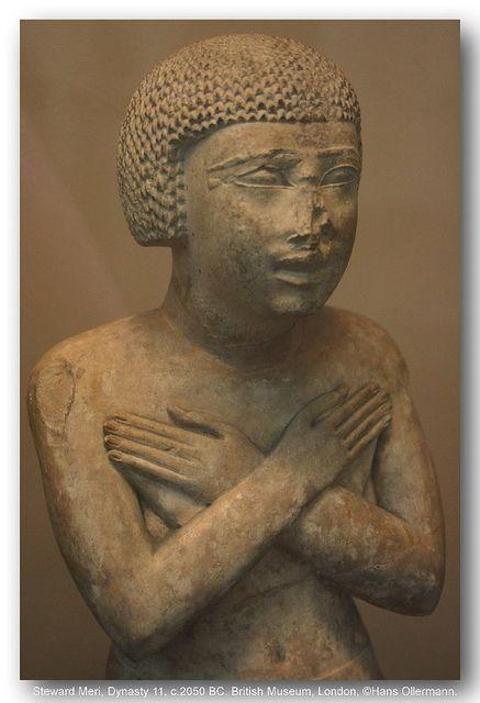 Steward Meri, Dynasty 11, c.2050 BC. British Museum, London.  