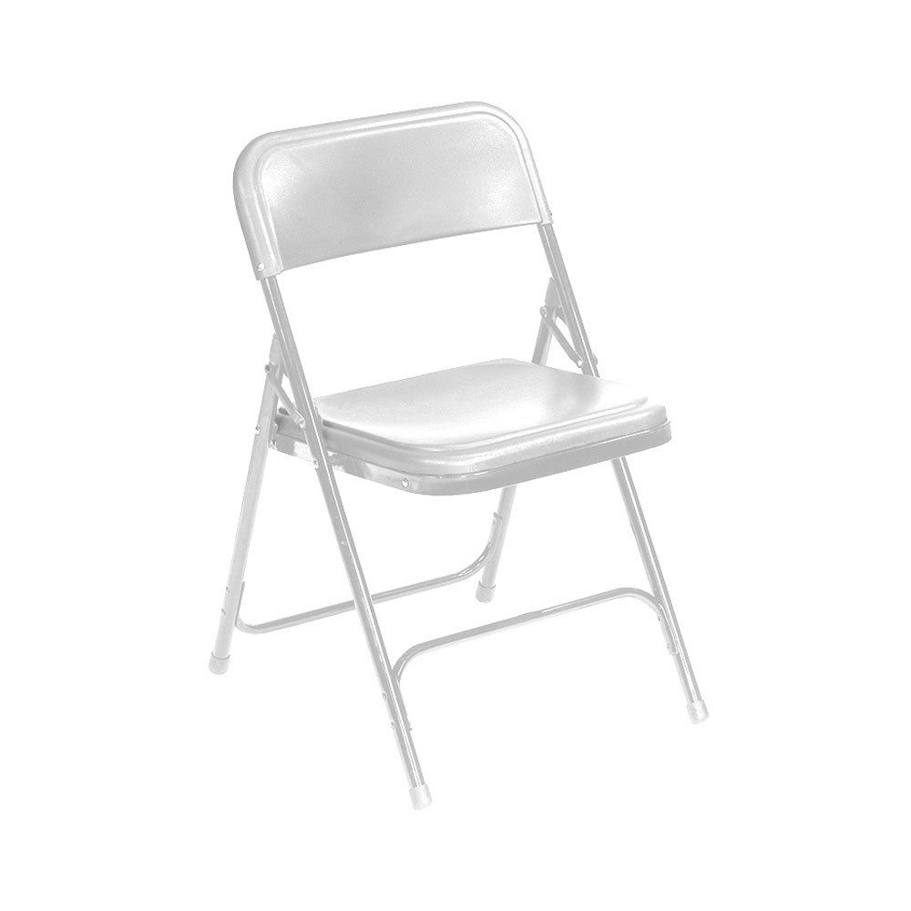 plastic metal chairs. National Public Seating 821 White Metal Folding Chair With Plastic Seat Chairs I