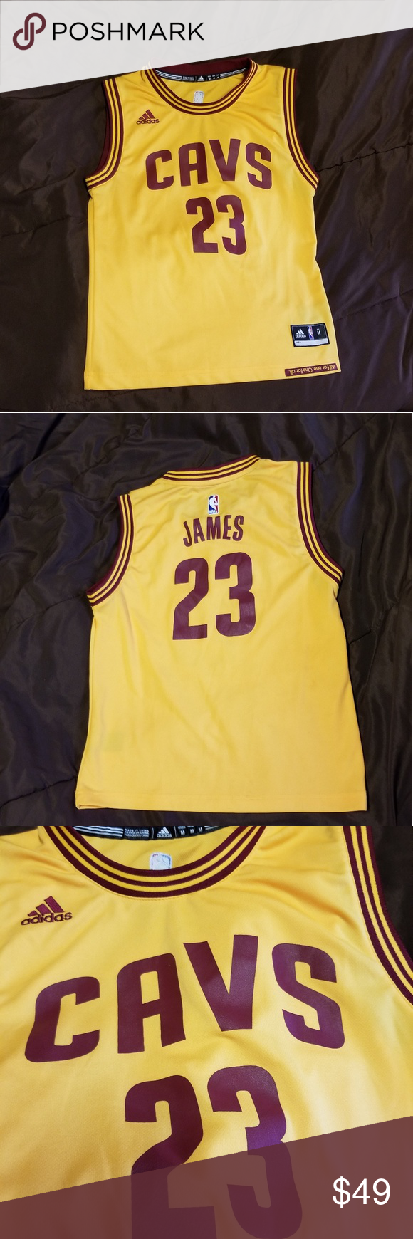 c2a8f7f5f8a Lebron James NBA adidas youth Basketball Jersey Official NBA merchandise adidas  LeBron James Cleveland Cavaliers number