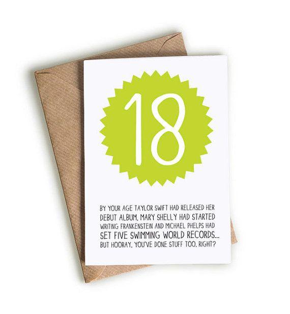 By Your Age... Happy 18th Birthday Card / Funny Birthday