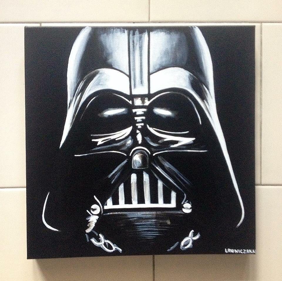 dark vador peinture acrylique sur toile 40 x 40 peinture pinterest star wars et stars. Black Bedroom Furniture Sets. Home Design Ideas