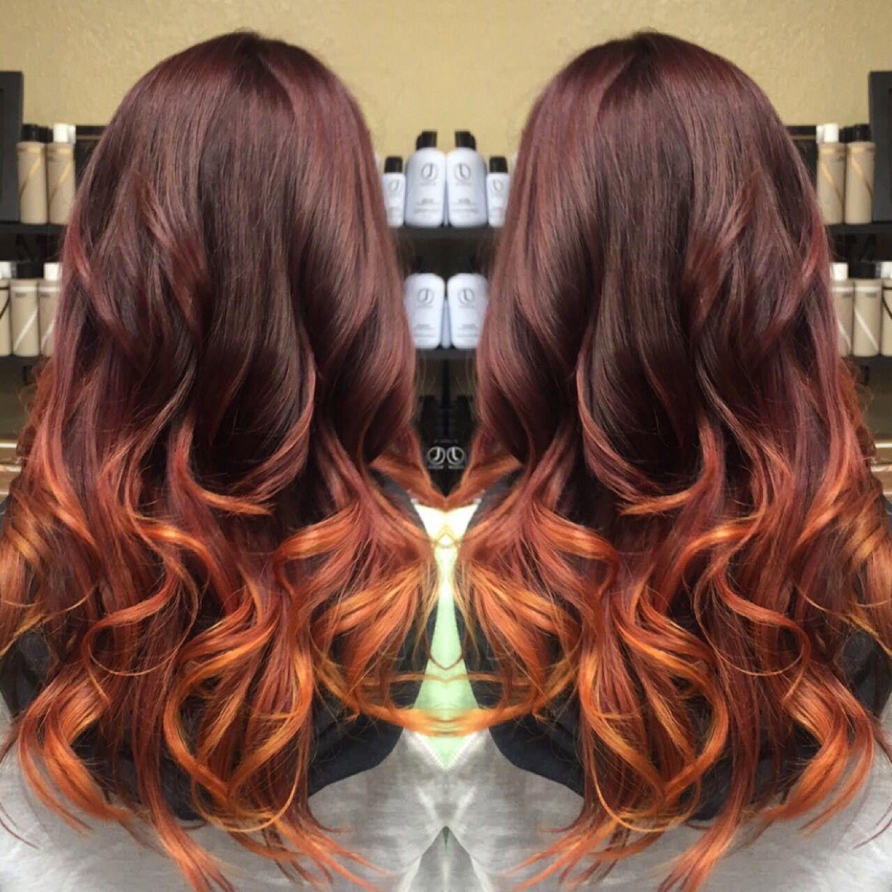Instagram Hairstylist Aubrey Sunset Balayage Ombre Aubrey M Strands Hair Studio Littleton Co