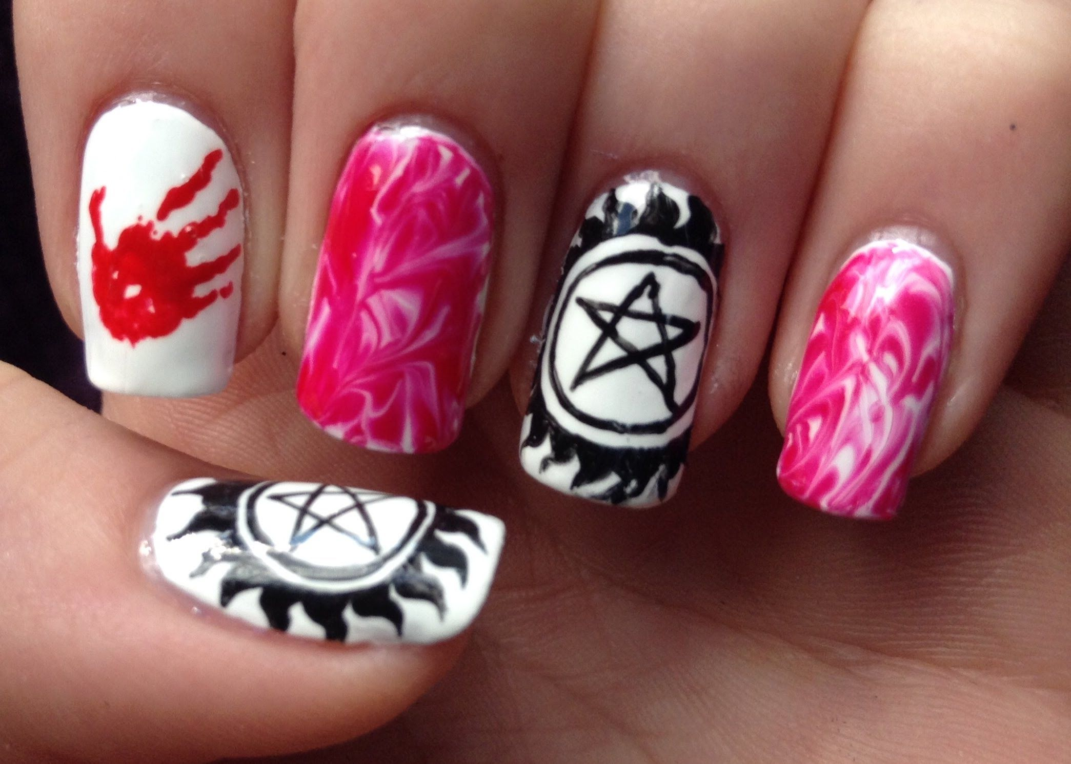 Supernatural Nail Art Tutorial (request)  Youtube