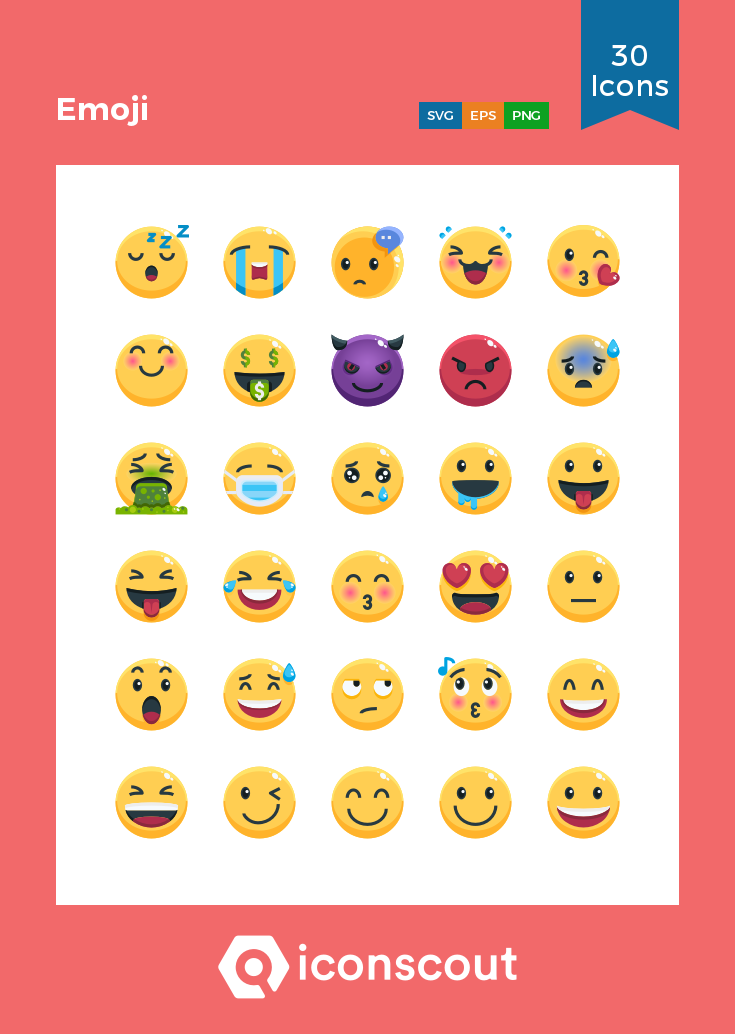 Download Emoji Icon pack Available in SVG, PNG, EPS, AI