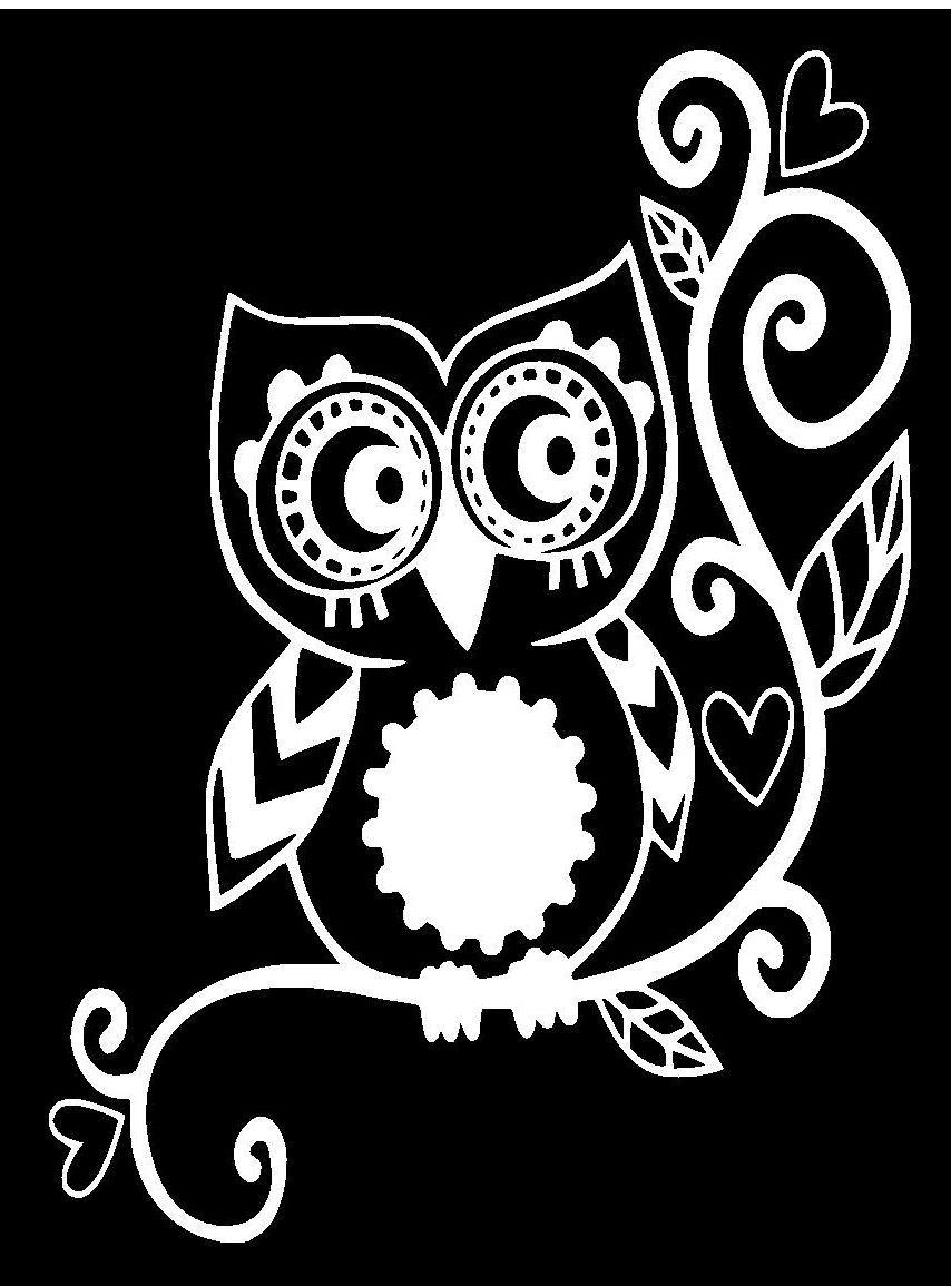 4 owl sticker decal car window vinyl laptop tribal girl