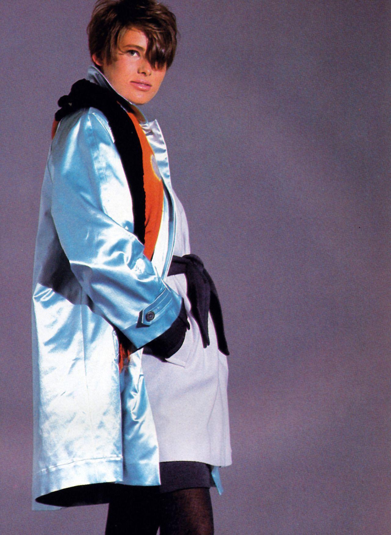 Nathaniel Kramer for Flare magazine, November 1990. Clothing by Perry Ellis.