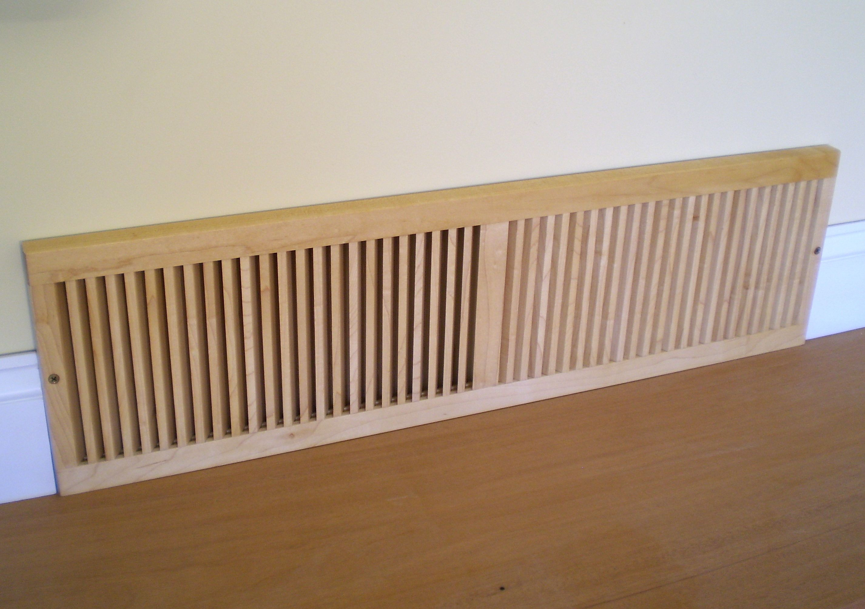 Louvered Wood Vent Covers Wooden Finishings Cold Air Return