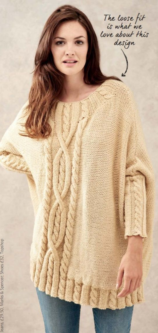 Free Knitting Pattern For A Oversized Cable Jumper
