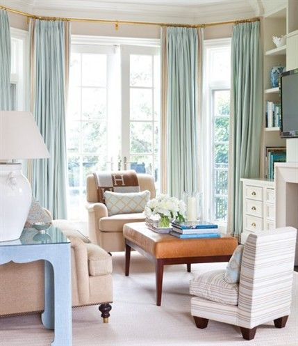 This rather neutral room is brought to life with details like the
