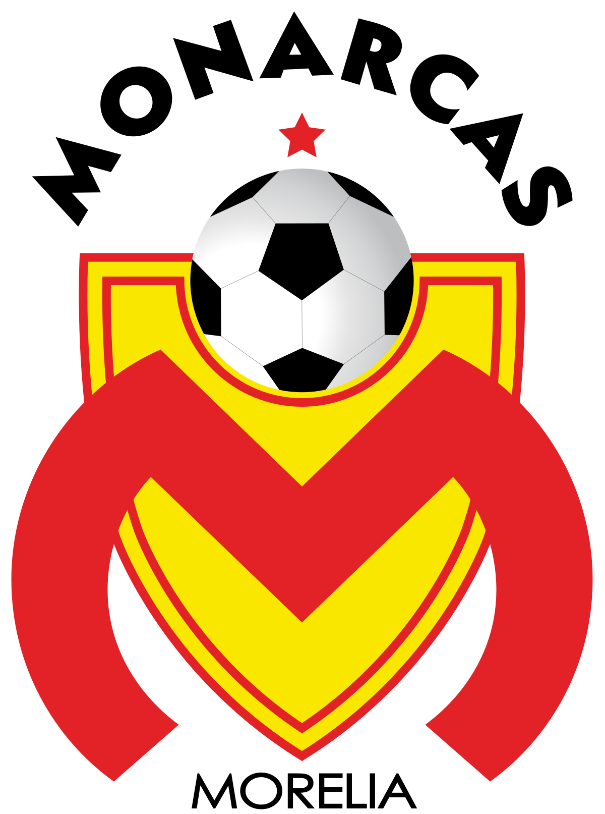 Monarca Morelia Of Mexico Crest Soccer Logo Mexican Soccer League Football Logo