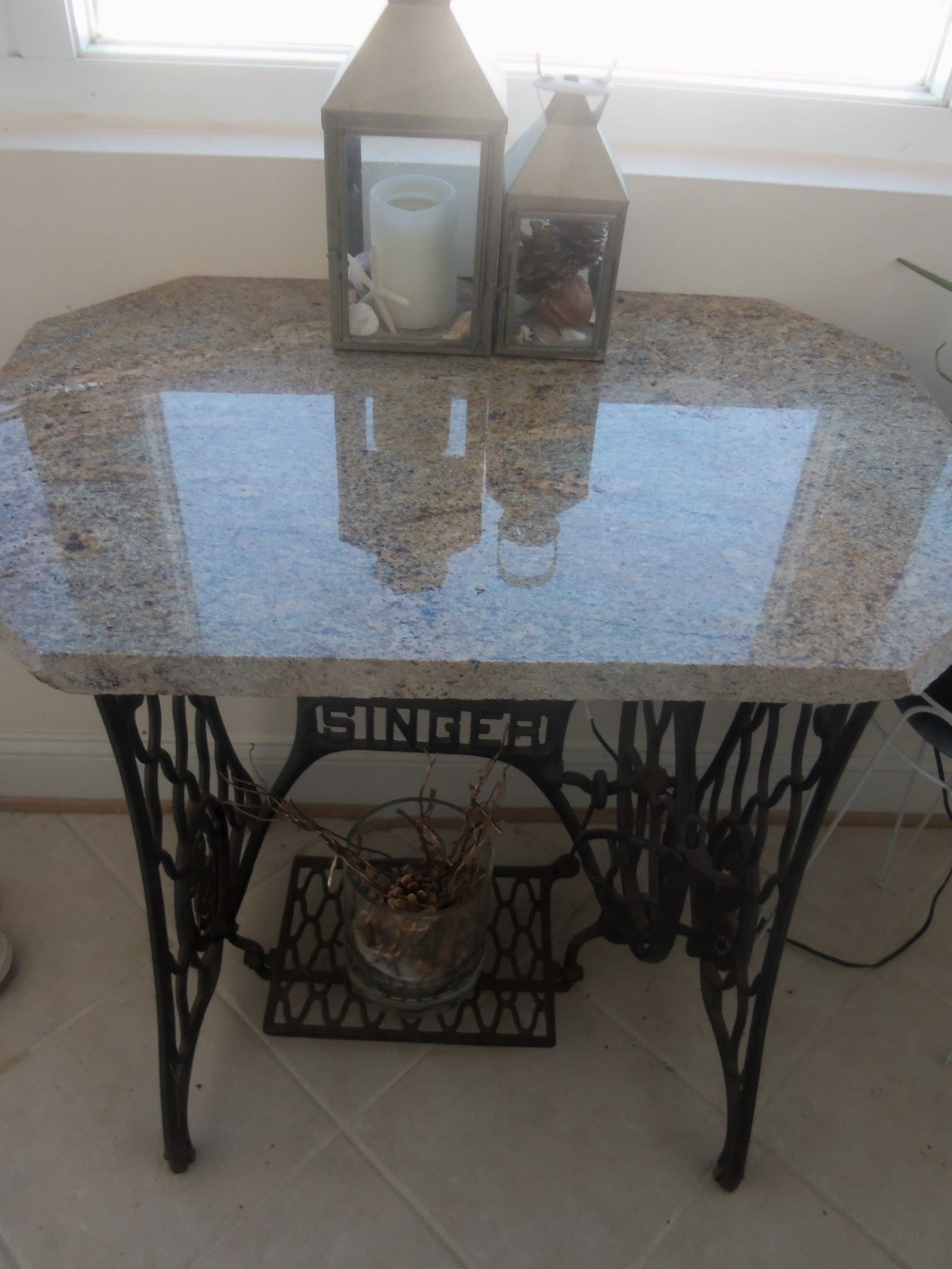 Create Your Own Table Add A Piece Of Granite Or Wood