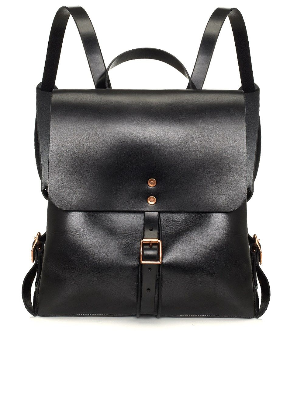 Black Leather Medium Backpack | Alfie Douglas | Avenue32 ...
