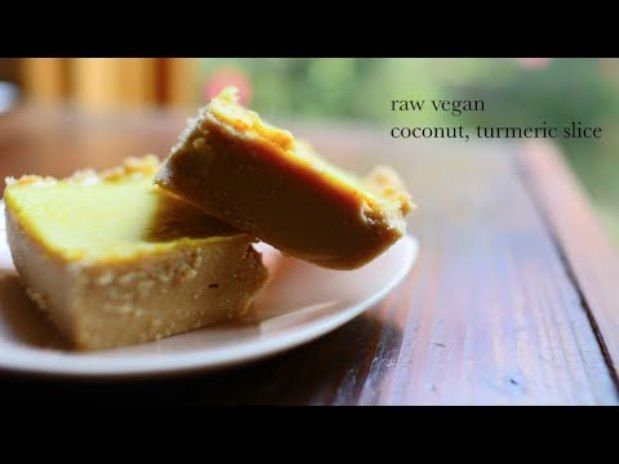 Coconut turmeric slice dessert raw vegan food drink coconut turmeric slice raw vegan recipe video just love that raw vegan desserts are flexible and have much room to experiment with various ingredients forumfinder Image collections
