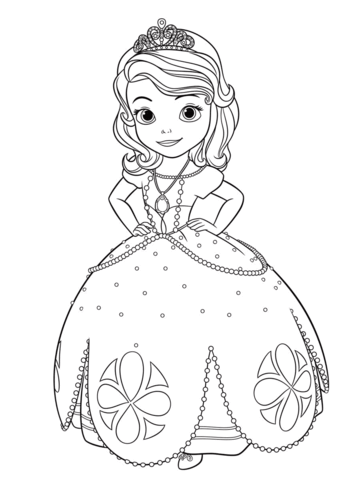 Princess Sofia Coloring Page From Sofia The First Category Select From 26794 Prin Disney Princess Coloring Pages Disney Coloring Pages Princess Coloring Pages