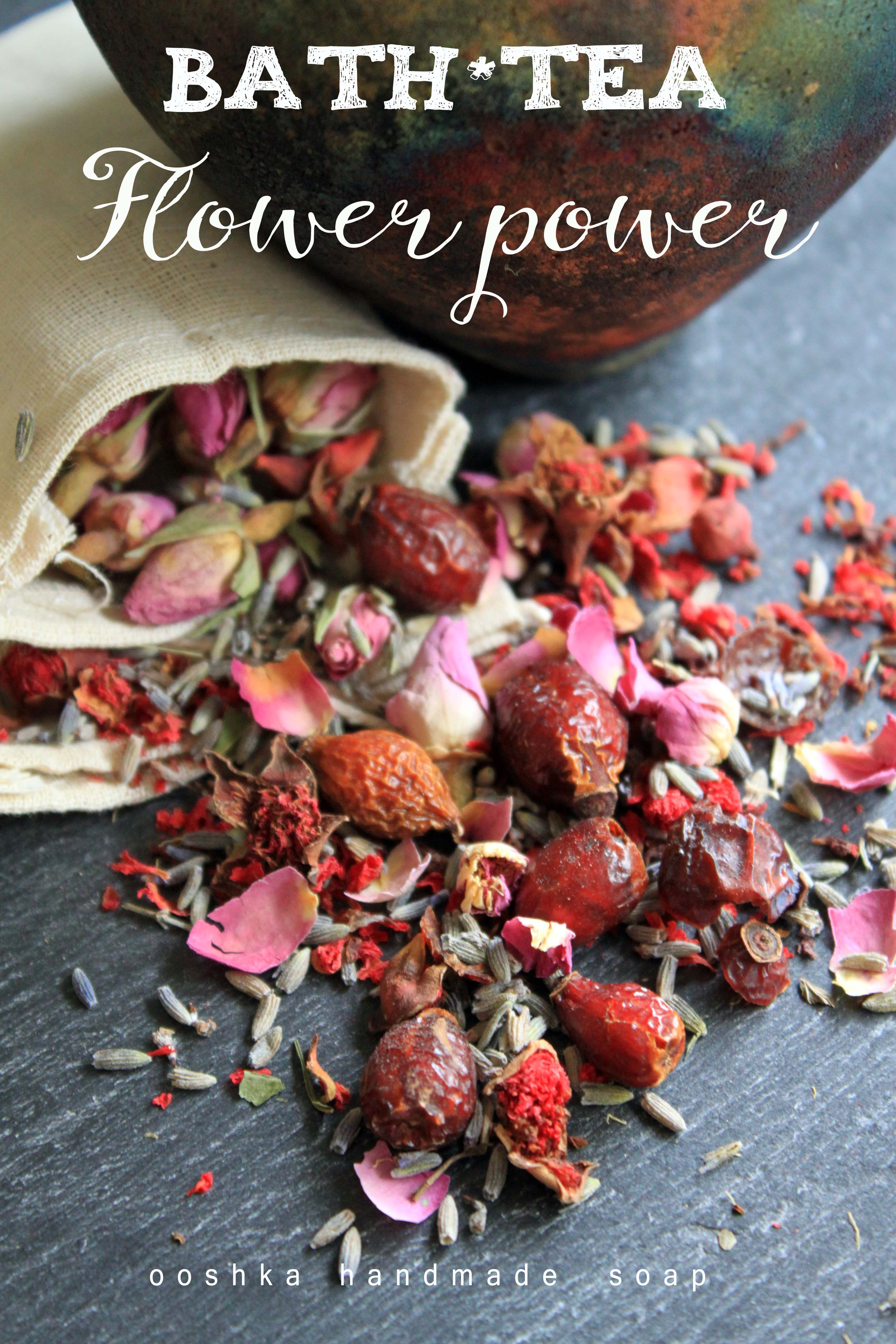 Flower Power Bath Tea Hibiscus Chamomile Pink Rose Petals