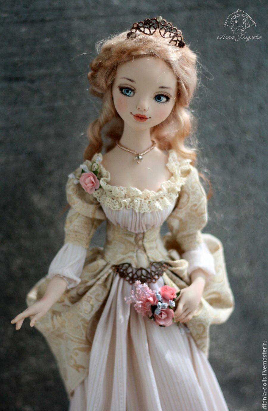 Купить Элизабет - бежевый, барышня, коллекционная кукла, ручная работа, оригинальный подарок, авторская кукла