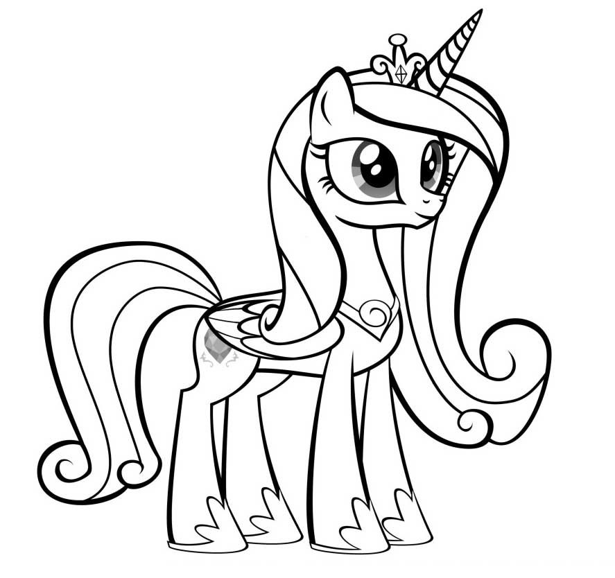 Coloring Pages Princess Pony : My little pony princess cadence coloring pages colouring
