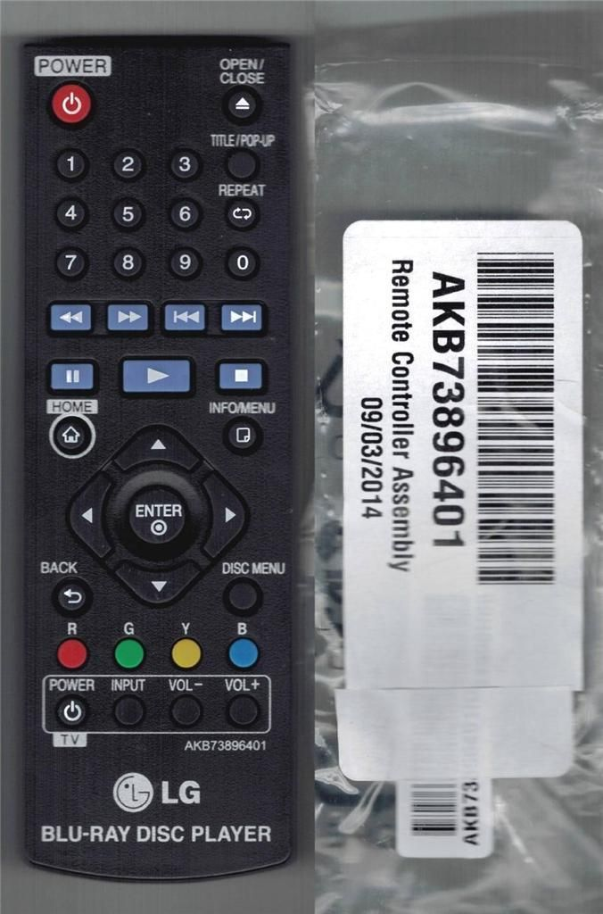 $9 88 - Lg Blu-Ray Disc Dvd Player Remote Control