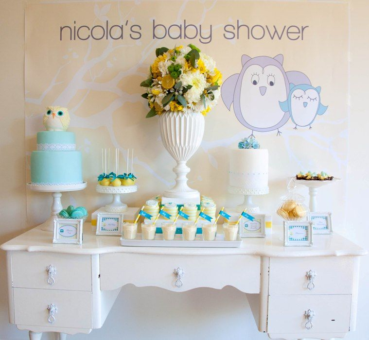 Owl Themed Baby Shower Gender neutral baby shower, Baby