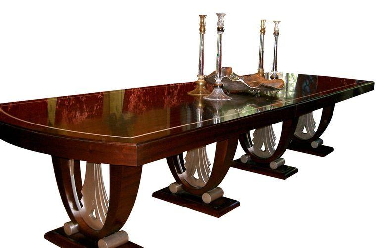 Art Deco Dining Table In Ruhlmann Style