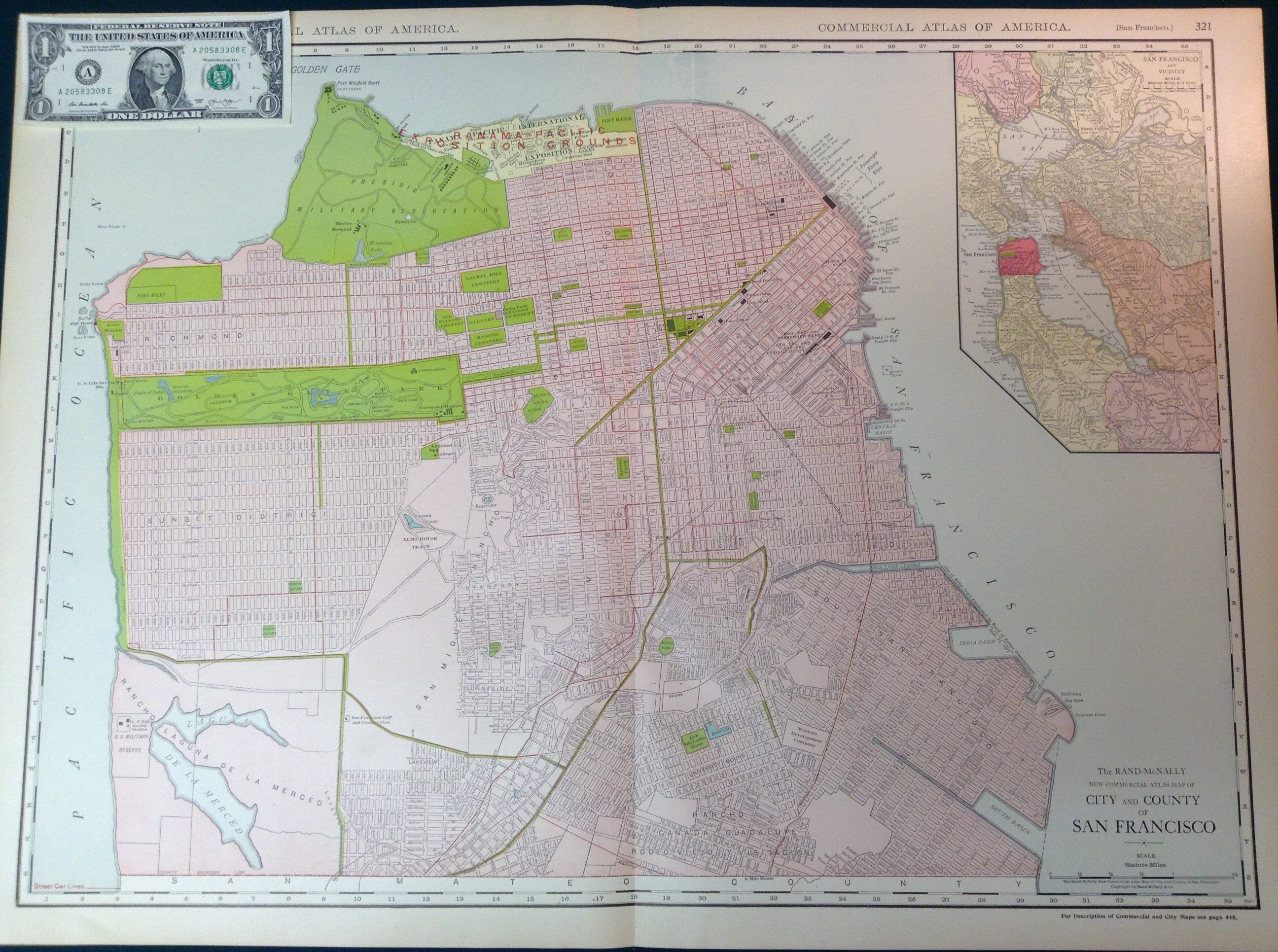 Pacific Heights San Francisco Map.Excited To Share This Item From My Etsy Shop 1917 Xl Antique Map