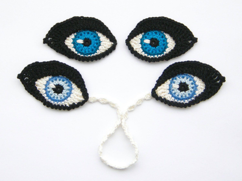 Crochet Pattern Eyes Bookmark And Applique Motif For Dolls Tm Diagram Ideas Tips Juxtapost
