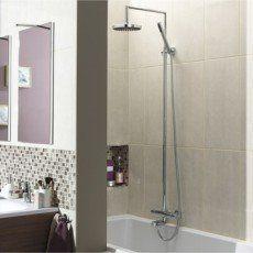 Colonne de douche et bain avec robinetterie, Lineatherm bain/douche