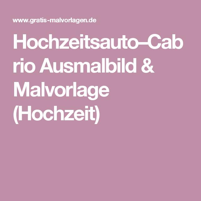 Hochzeitsauto-Cabrio Ausmalbild & Malvorlage (Auto