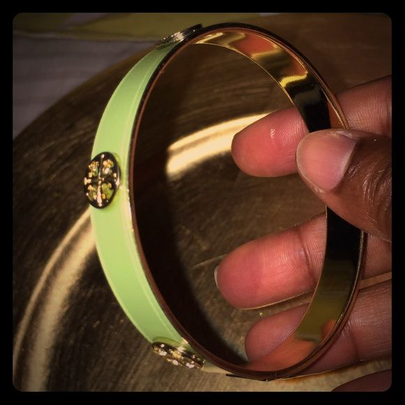 Bangle SOLD lime green/gold bangle. Nice to pair with a sundress or linen pants. Jewelry