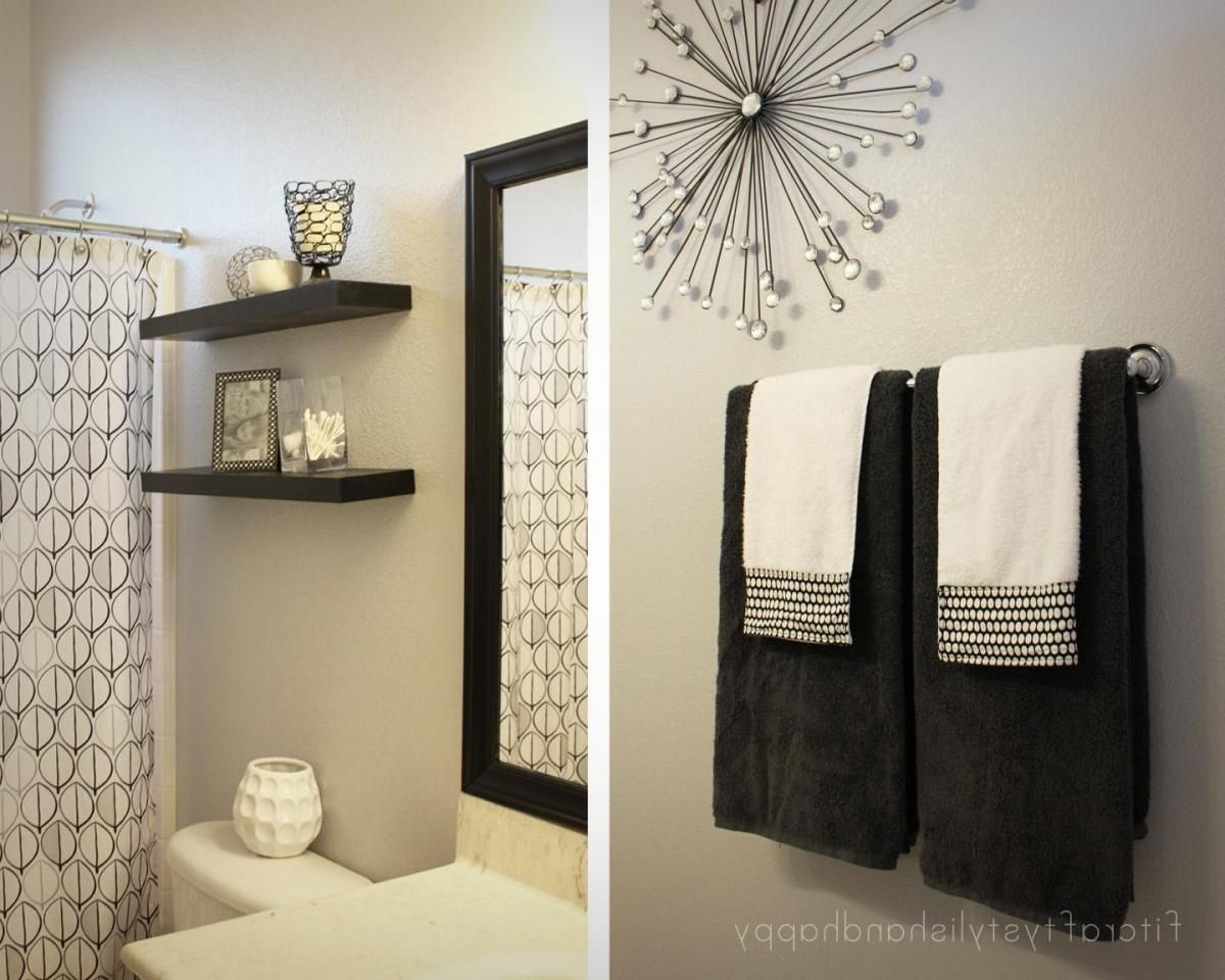 Pin By Gia Hawkins On Condo Ideas Pinterest Condos - Black and white bathroom towels for bathroom decor ideas
