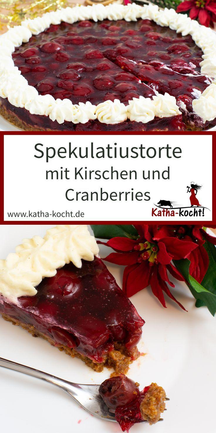 Spekulatiustorte mit Kirschen | Kuchen/Backen | Cake ...